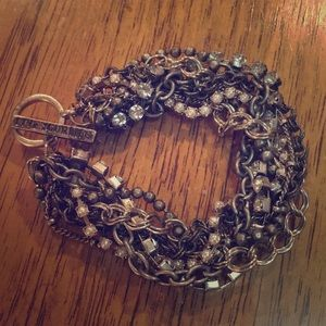 American Eagle mixed metal braided chain bracelet
